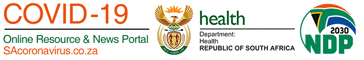 South African government's Covid-19 portal